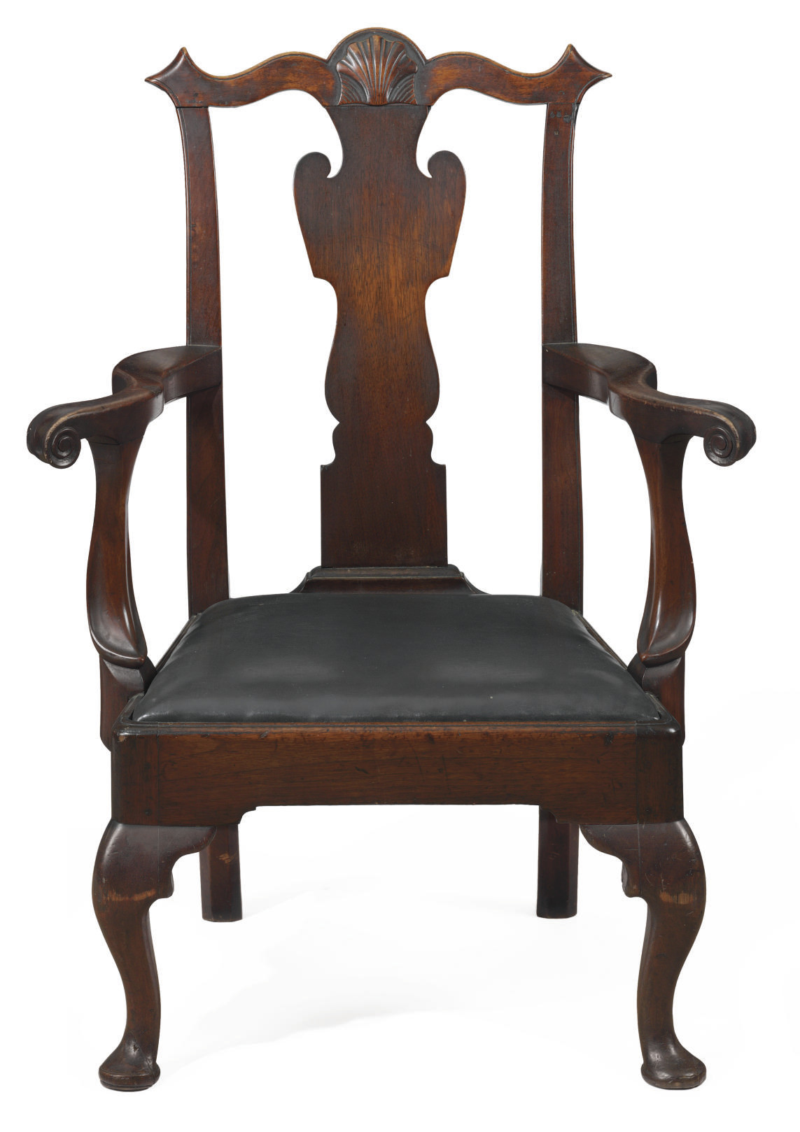A Chippendale Walnut Armchair