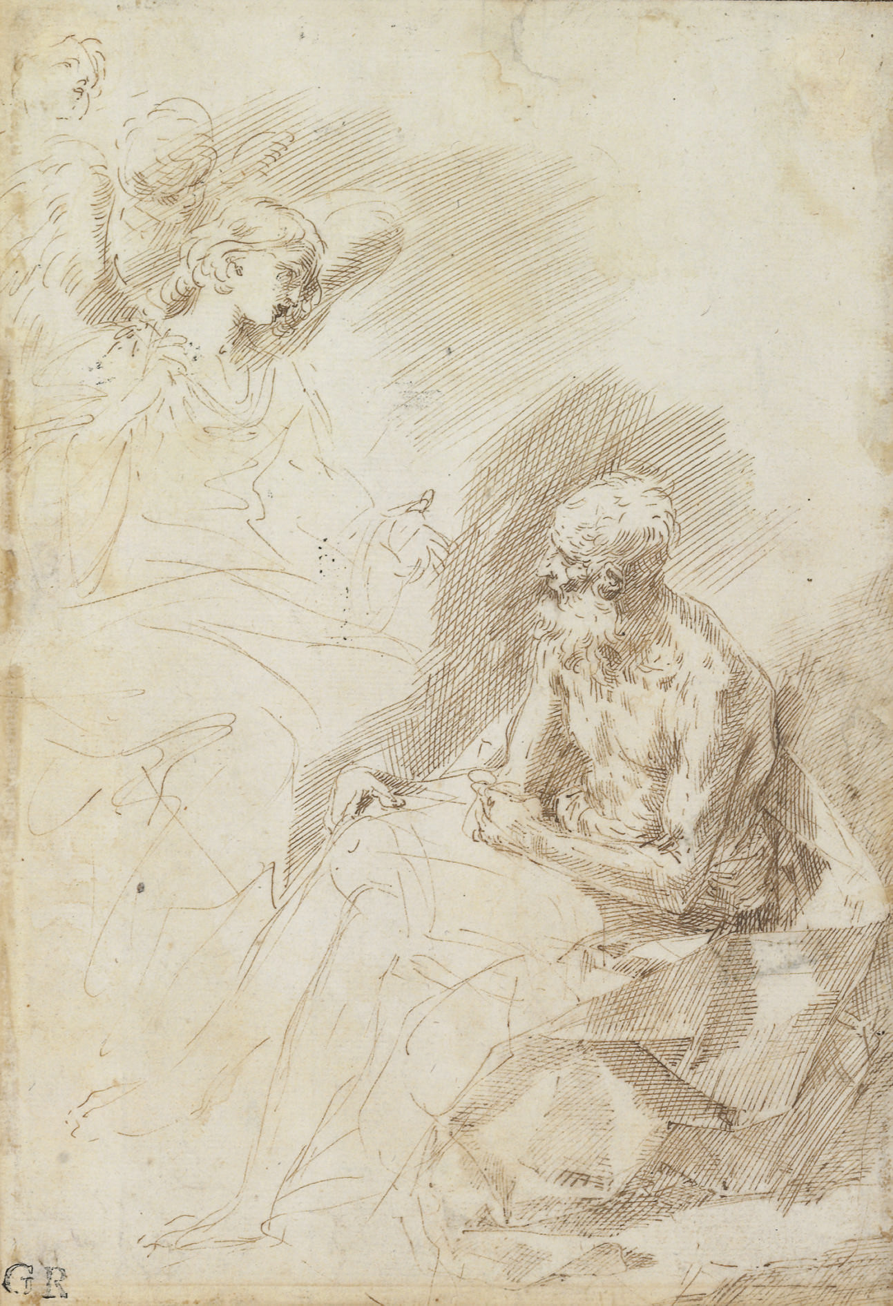 Saint Jerome attended by angels