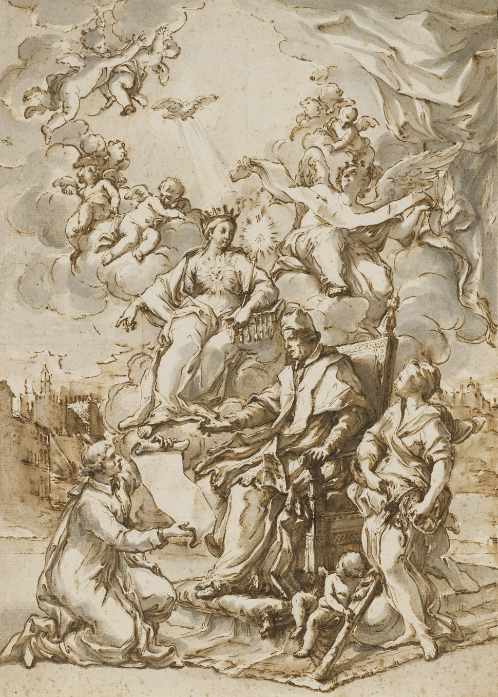 Allegory of the publication of the papal bull Unigenitus
