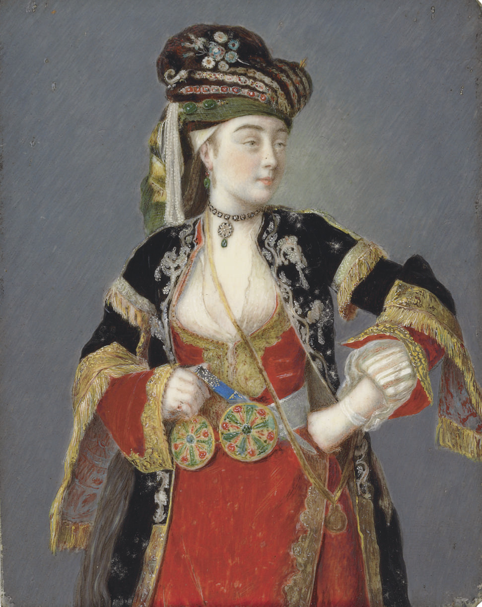 Presumed portrait of Laura Tarsi in Turkish dress