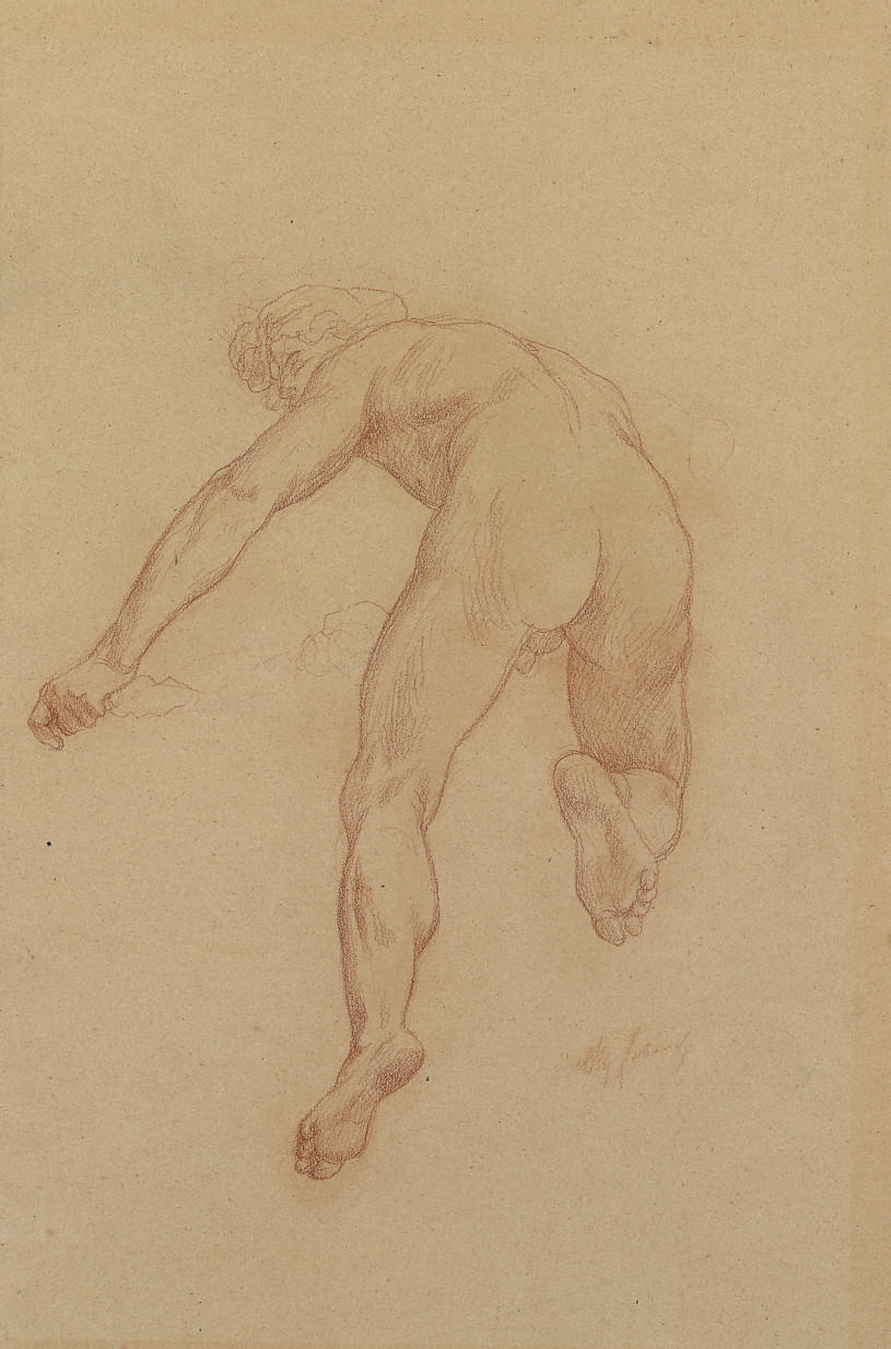 Study for a figure in The Triumph of Flora