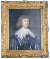 Portrait of a gentleman, bust-length, said to be Lucius Carey, Second Viscount Falkland