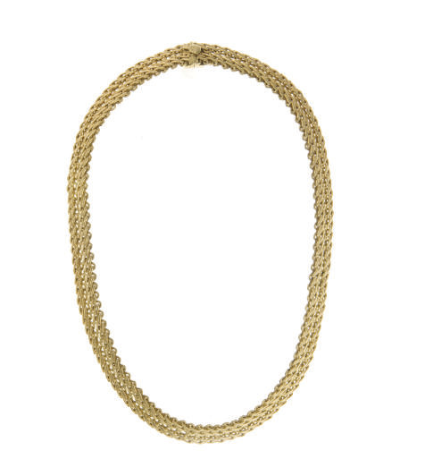 AN 18K GOLD NECKLACE, BY BUCCE