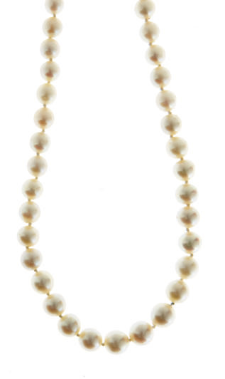 A GROUP OF CULTURED PEARL AND WHITE GOLD NECKLACES