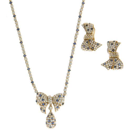 A SUITE OF SAPPHIRE, DIAMOND A
