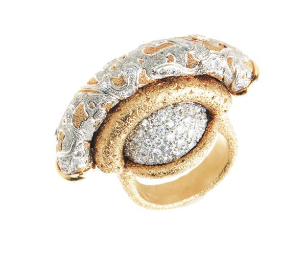 A DIAMOND, PLATINUM AND GOLD R