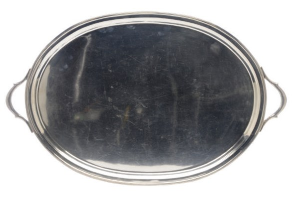 A LARGE AMERICAN SILVER TWO-HA