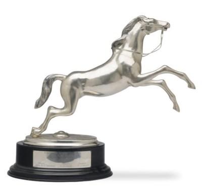 A PERUVIAN SILVER HORSE-FORM T
