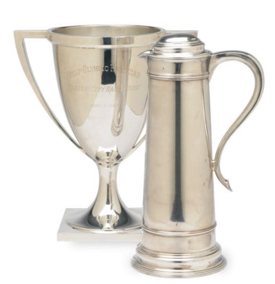AN AMERICAN SILVER TWO-HANDLED