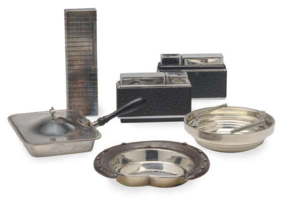 A GROUP OF SMOKING ACCESSORIES