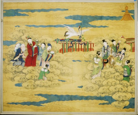 A CHINESE WALLPAPER PANEL,