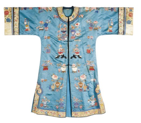 A CHINESE SILK EMBROIDERED INF