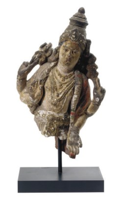 AN INDIAN POTTERY POLYCHROME-P
