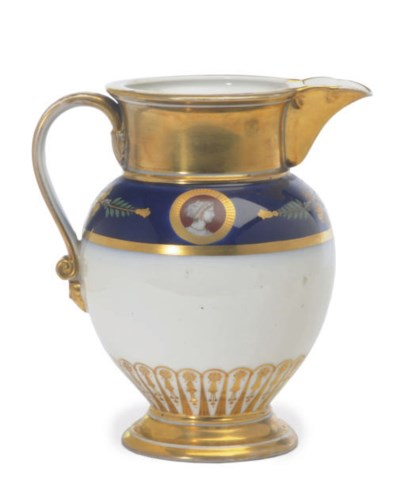 A FRENCH PORCELAIN LATER-DECOR