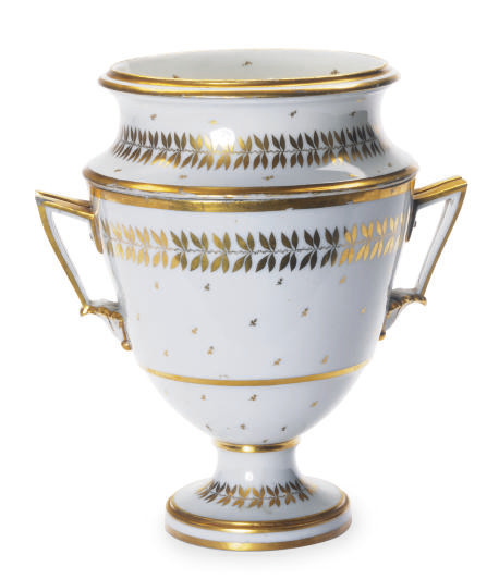 A PARIS PORCELAIN GILT WHITE T