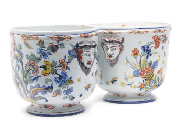 A PAIR OF CONTINENTAL FAIENCE