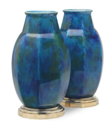 A PAIR OF FRENCH FAIENCE BLUE