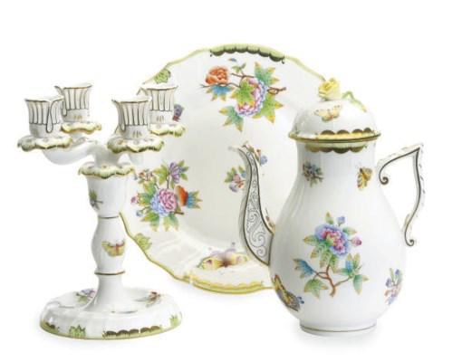 A HUNGARIAN PORCELAIN PART TAB