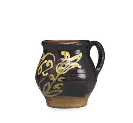 AN AMERICAN GLAZED POTTERY RED
