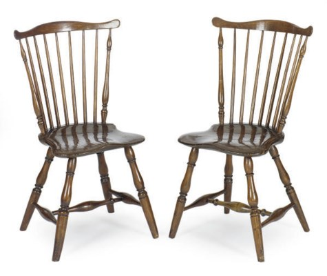 TWO AMERICAN WINDSOR COMB-BACK