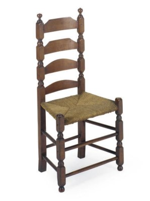 A MAPLE SIDE CHAIR,