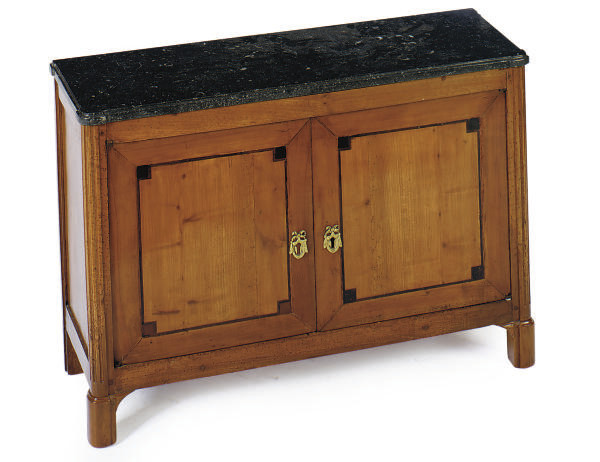 A FRENCH INLAID FRUITWOOD AND