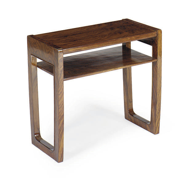 A FRENCH ROSEWOOD SIDE TABLE**