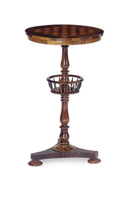 A GEORGE IV ROSEWOOD AND BIRD'