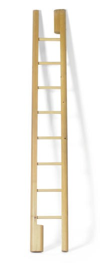 A PINE FOLDING LIBRARY LADDER,