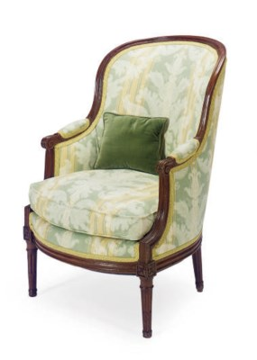 A LOUIS XVI FRUITWOOD AND UPHO