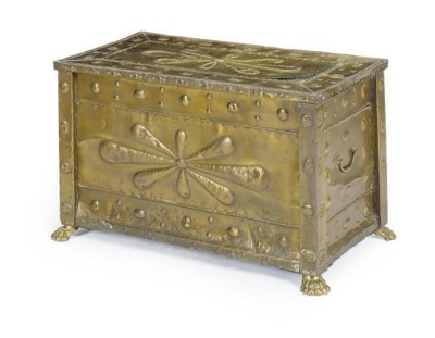 A BRASS WOOD-CHEST,