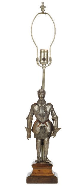 A MINIATURE SUIT OF ARMOUR,