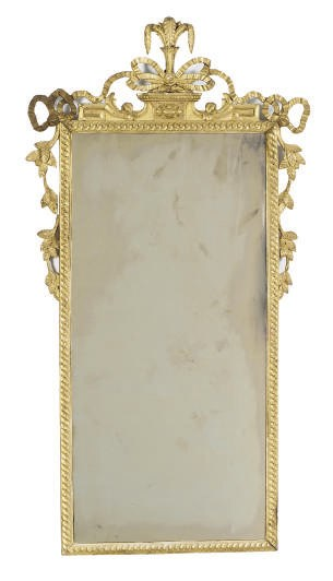 A NORTH ITALIAN GILTWOOD MIRRO