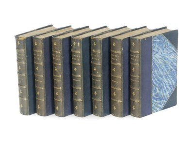A GROUP OF LEATHER BOUND BOOKS