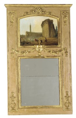 A LOUIS XVI PAINTED AND PARCEL
