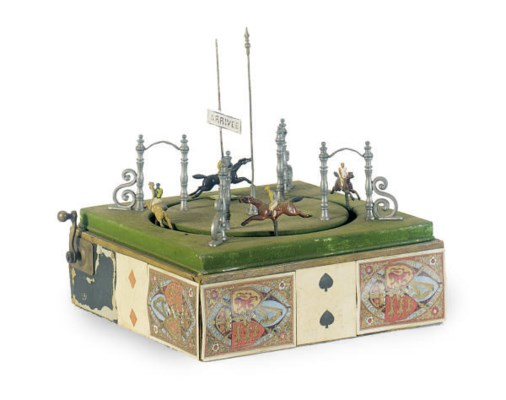 AN ENGLISH TABLE TOP DERBY,