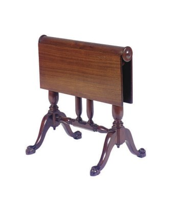 A MAHOGANY DROP-LEAF LOW SIDE