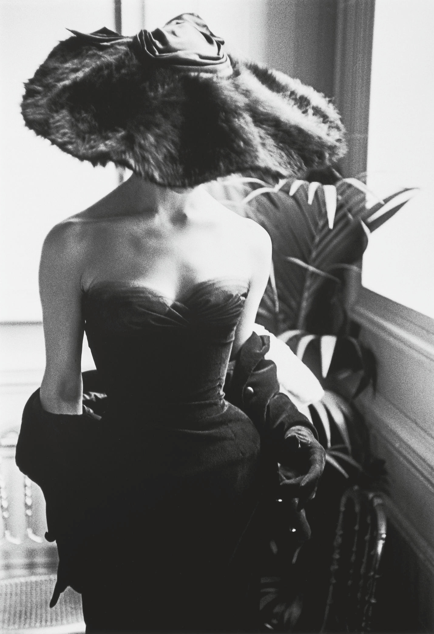 Fur Hat, Dior Dress, 1950s