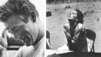 James Dean on the set of Rebel Without a Cause, for Photo Play, 1955; and Elizabeth Taylor on the set of Giant, Marfa, Texas, 1956