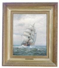 A ship in rough seas