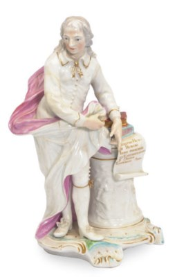 AN ENGLISH PORCELAIN MODEL OF