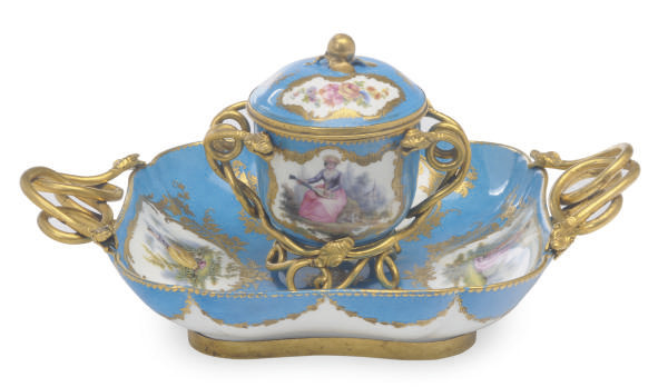 A FRENCH LATER DECORATED GILT-