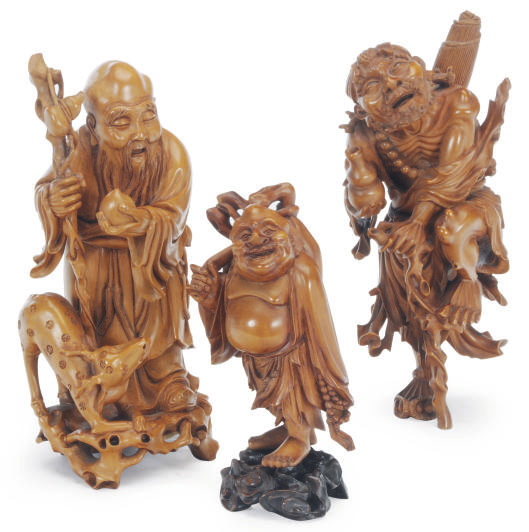 A GROUP OF THREE CHINESE BOXWO