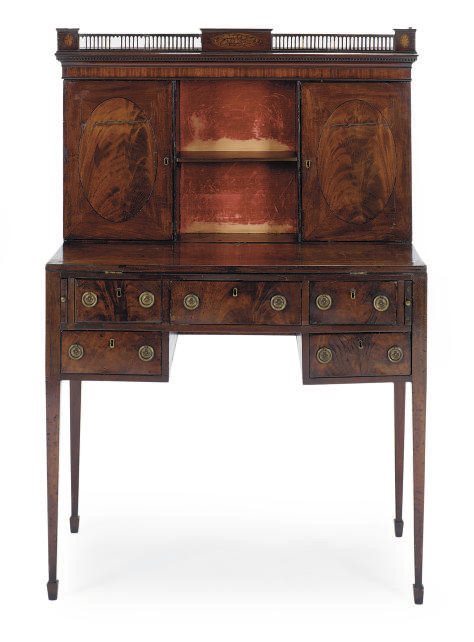 A GEORGE III MAHOGANY AND PART
