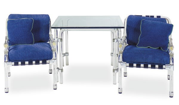 A GROUP OF LUCITE FURNITURE,