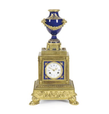 A FRENCH PORCELAIN AND GILT-BR