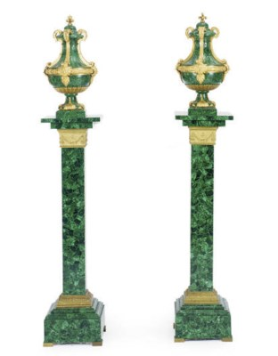 A PAIR OF GILT-BRONZE MOUNTED