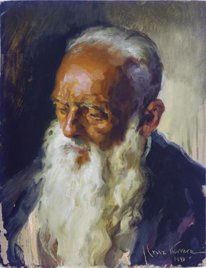 Study of a bearded man