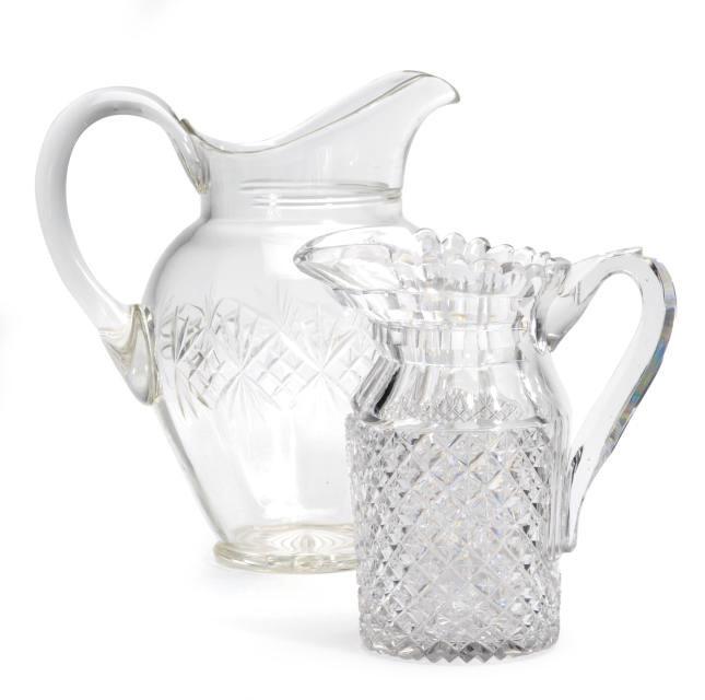 AN ANGLO-IRISH CUT GLASS PITCH