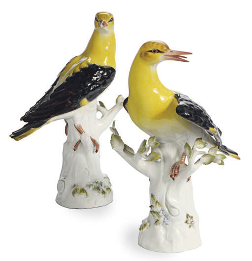 TWO GERMAN PORCELAIN MODELS OF